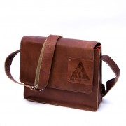 Laptoptas Middle flap Low - Cognac