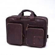 Laptoptas Square pocket - Bruin