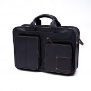 Laptoptas Square pocket - Zwart
