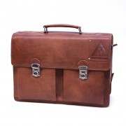 Laptoptas Old Skool - Cognac