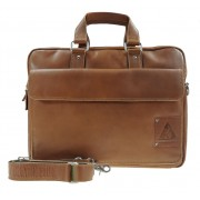 Laptoptas one pocket - Cognac